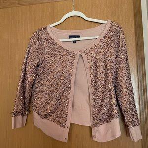 Rose Gold Sequin Cardigan 🌹✨